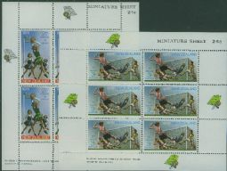 New Zealand Stamps SGMS942 Netball and Soccer health miniature sheets set of 2